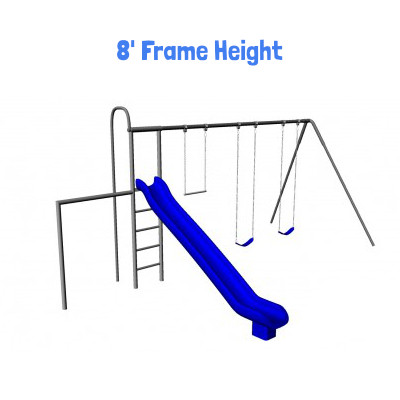 Monkey Tree Swing Set with Slide & Turning Bar (CP-MT40)