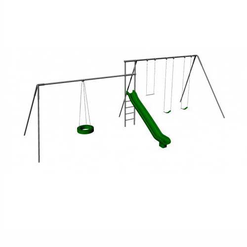 Monkey Tree Swing Set with Slide & Tire Swing (CP-MT44-10)