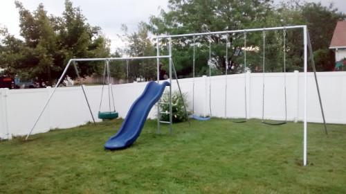 Monkey Tree Swing Set with Slide & Tire Swing (CP-MT44-10)