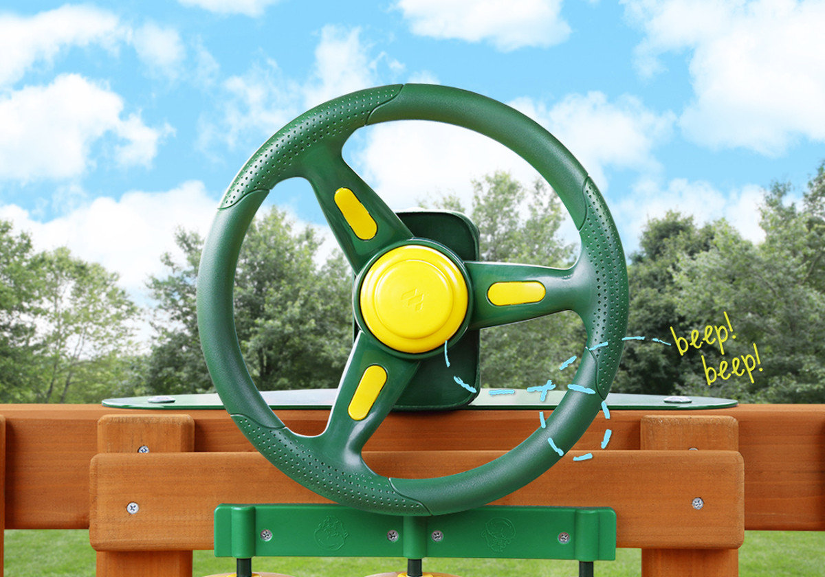 Rally Racing Steering Wheel (07-0034-G)