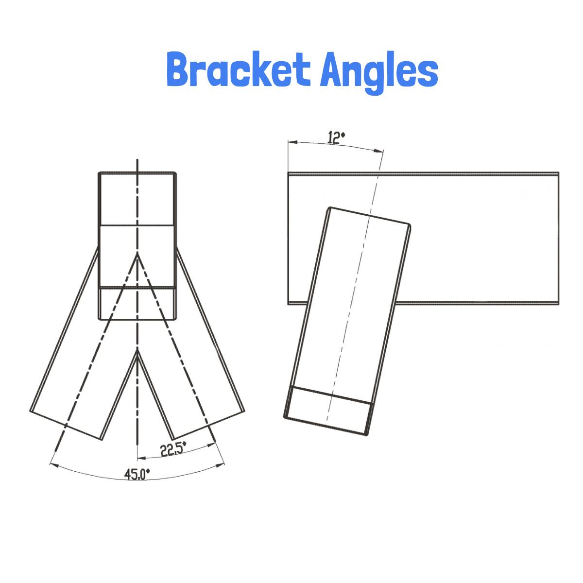 End Frame Fitting for Wooden Swing Sets (Set of 2)