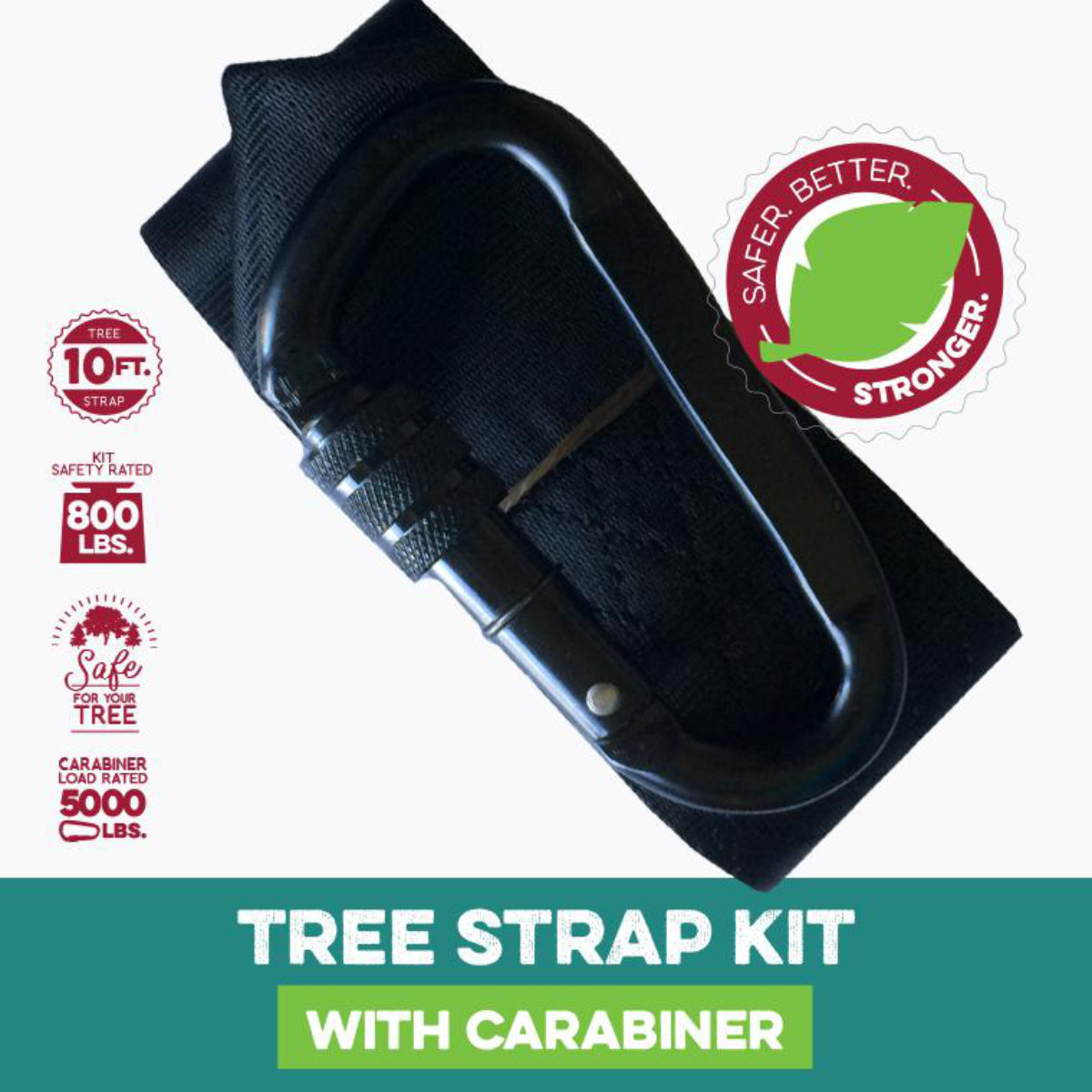 10 ft Tree Swing Strap with Carabiner (MM00149)