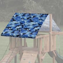 Camouflage Theme Playset Roof Tarp - Blue Camo