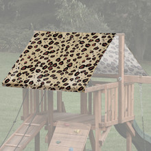 Cheetah Theme Playset Roof Tarp - Brown
