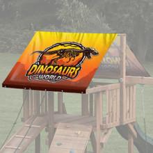 Dinosaur Theme Playset Roof Tarp - Dino World