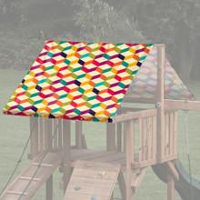 Geometric Patterns Playset Roof Tarp - 3D Cubes