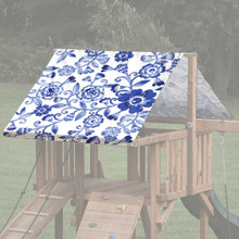 Flower Theme Playset Roof Tarp - Blue/White