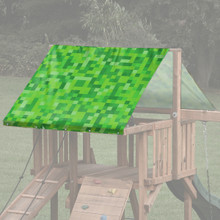 Pixel Theme Playset Roof Tarp - Green