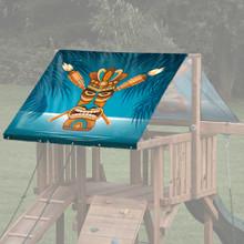 Tiki House Theme Playset Roof Tarp - Tiki Night