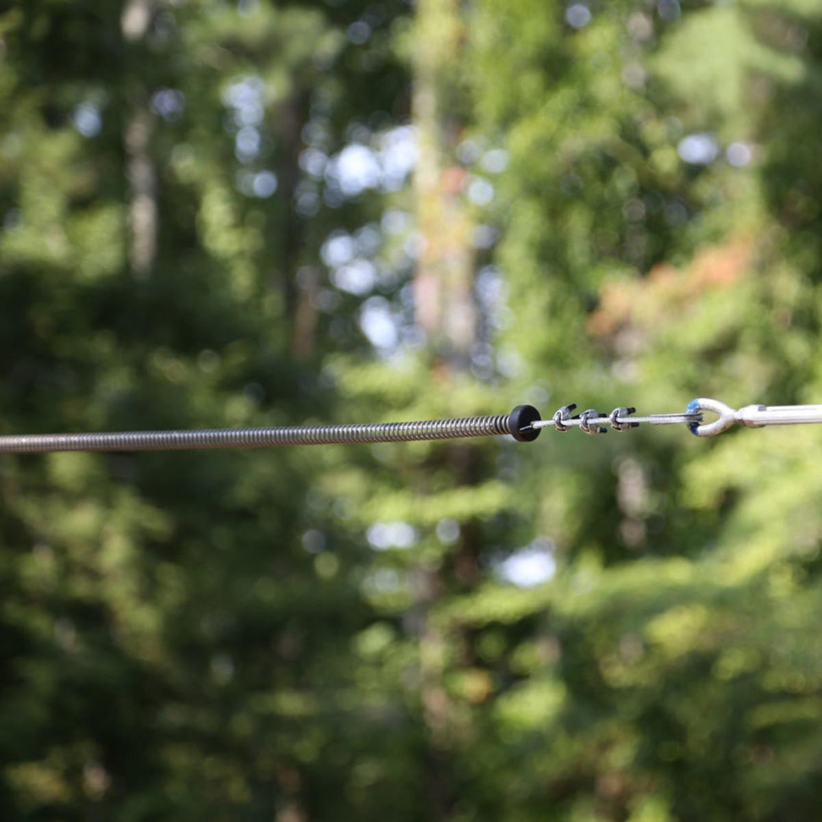 100X - 100' Zip Line Bundle -Spring Brake