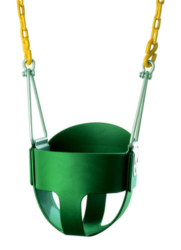 High Back Full Bucket Swing Seat with PC Chain (S-252)