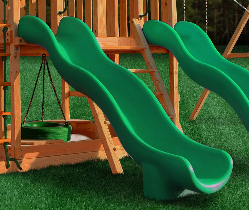 Super Wave Scoop Slide - Green