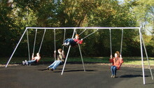 Primary Bipod Swing Set 2 Bays