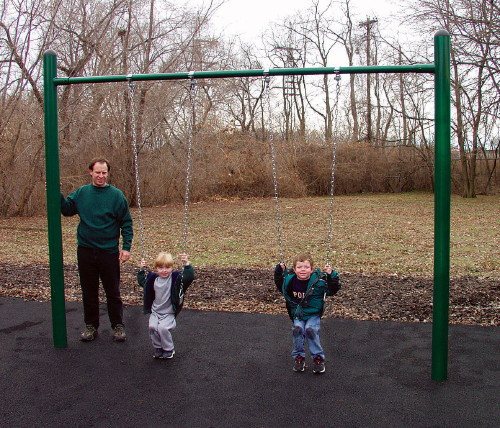 "4.5"" OD Single Post Swing Set"