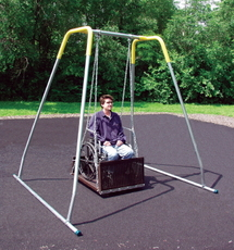 ADA Wheelchair Swing Platform with Frame (381-404H) - Portable