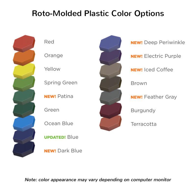 Roto-Molded Plastic Colors