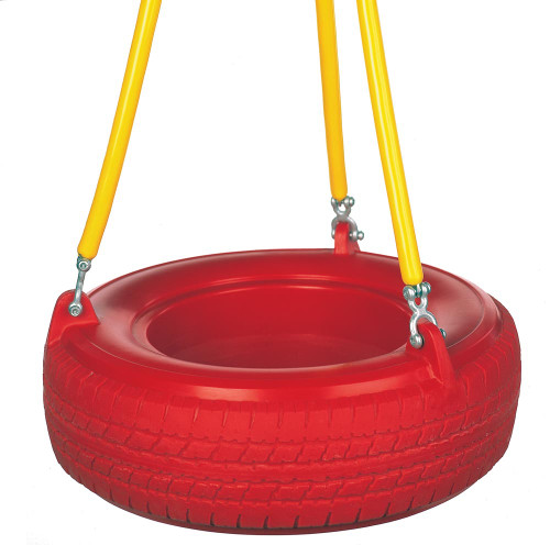 Plastic Tire Swing with Soft Grip Chain