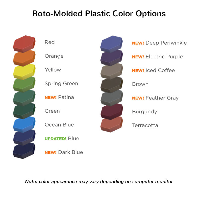 Roto-Molded Plastic Color Options