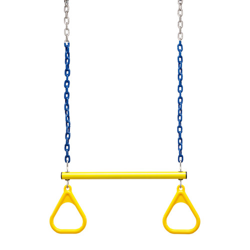 """Trapeze Bar and Triangle Rings with 3'6"""" Plastisol Chain (C-172R)"""