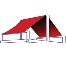 Single color structure roof illustration