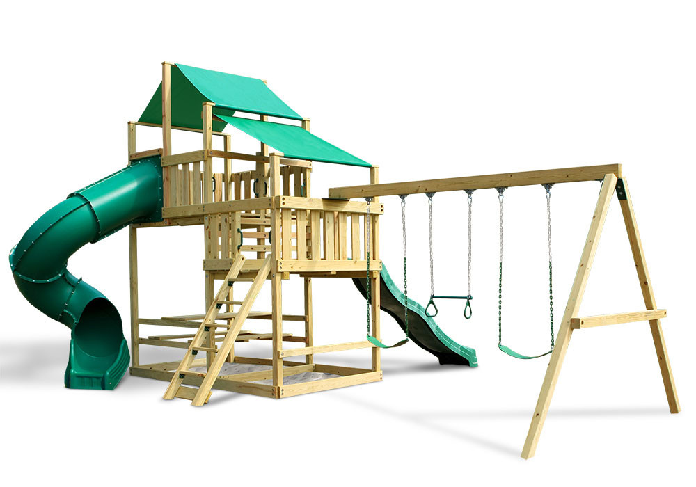 Frontier Fort With Swing Set Diy Kit