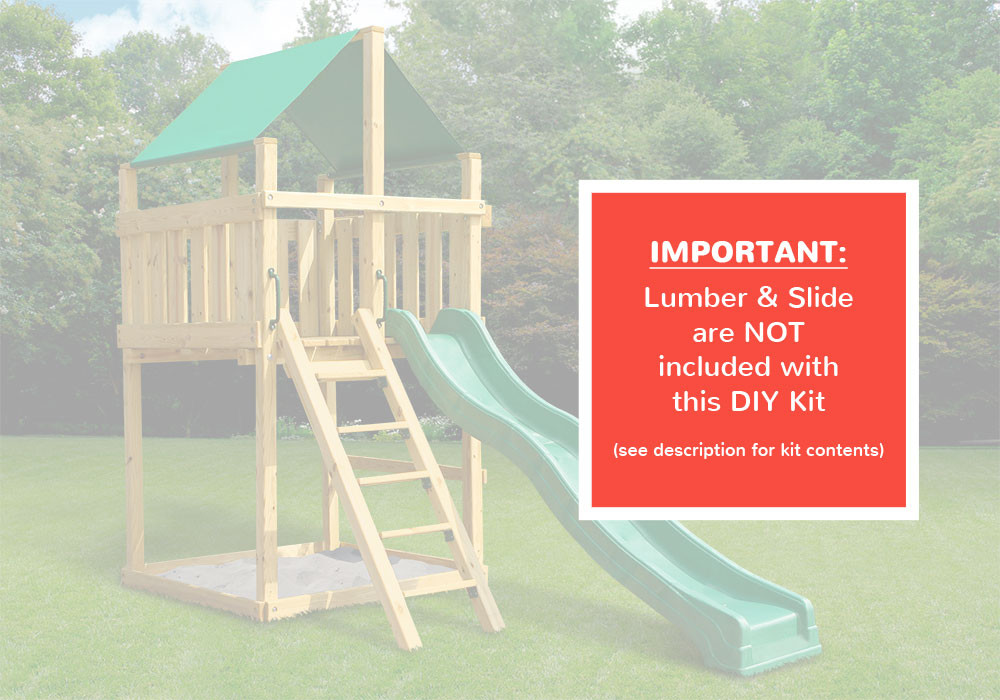 Discovery Fort - DIY Kit - Warning