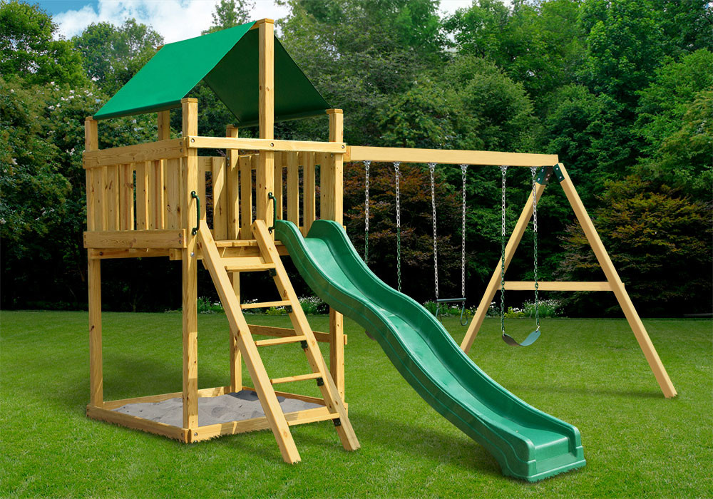 Discovery Fort With Swing Set DIY Kit (28 2001)