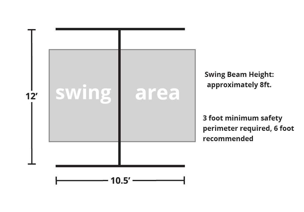 Free Standing Swing Beam with Swings - DIY Kit - Overhead