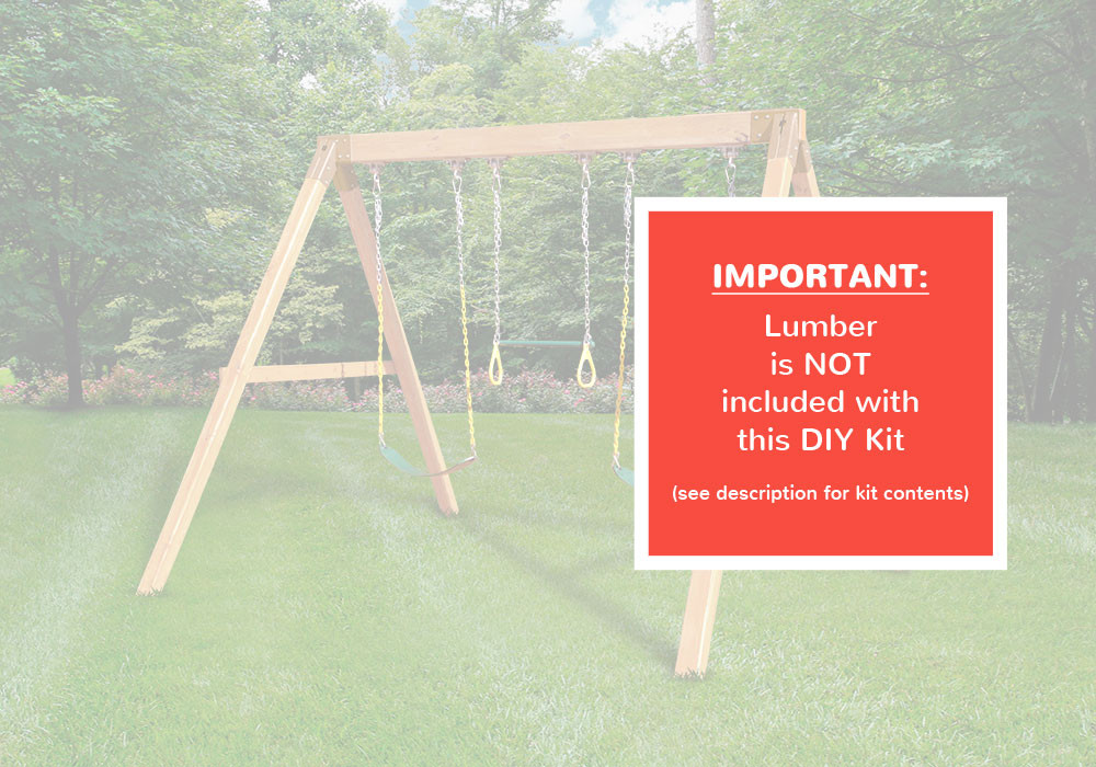 Free Standing Swing Beam with Swings - DIY Kit - Warning