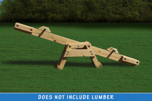 Yellow Pine See Saw Kit