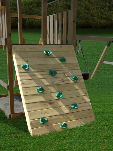 Rocks Holds on the Plan-it-Play Rock Wall Kit