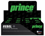 Prince Rebel Single Yellow Dot Squash Balls 12 Pack