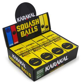 Karakal Double Yellow Dot Squash Balls 12 Pack