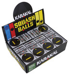 Karakal Single Yellow Dot Squash Balls 12 Pack