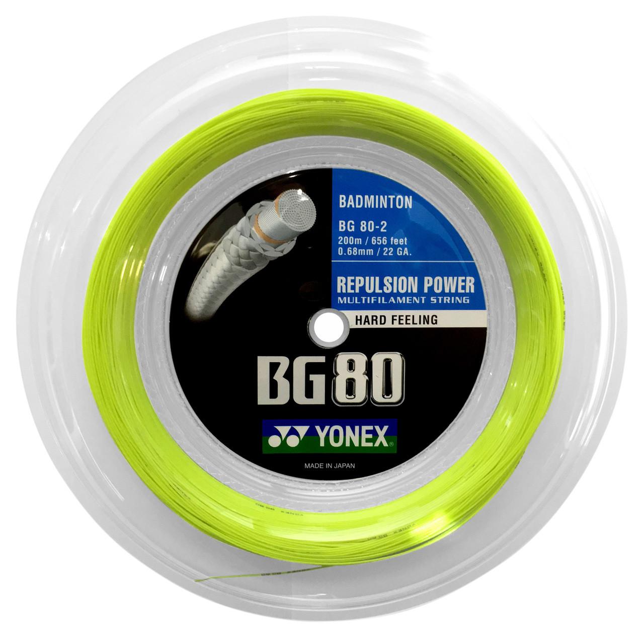 Yonex BG80 0.68mm Badminton 200M Reel - Racquet Depot UK