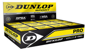 Dunlop Pro Double Yellow Dot Squash Balls 12 Pack
