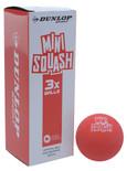 Dunlop Fun Mini Red Squash Balls 3 Pack