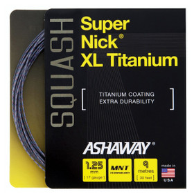 Ashaway SuperNick XL Ti 17 1.25mm Squash Set