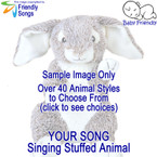 Your Favorite Song in a Singing Stuffed Animal Choose from over 40 Styles of Stuffed Animals