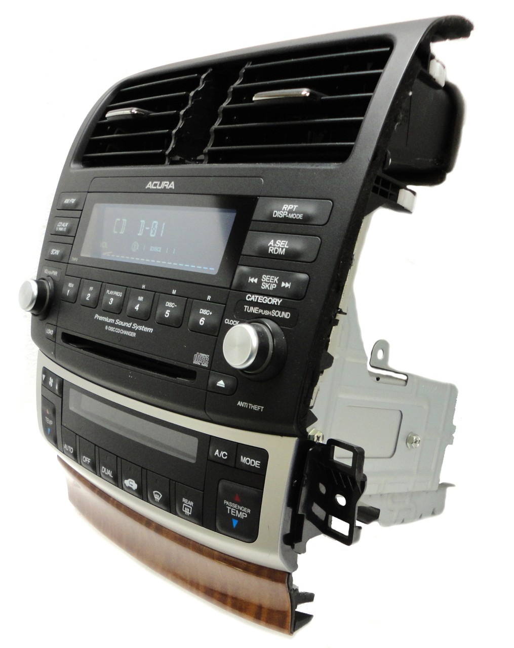 05 06 07 08 ACURA TSX Radio Stereo 6 Disc Changer CD