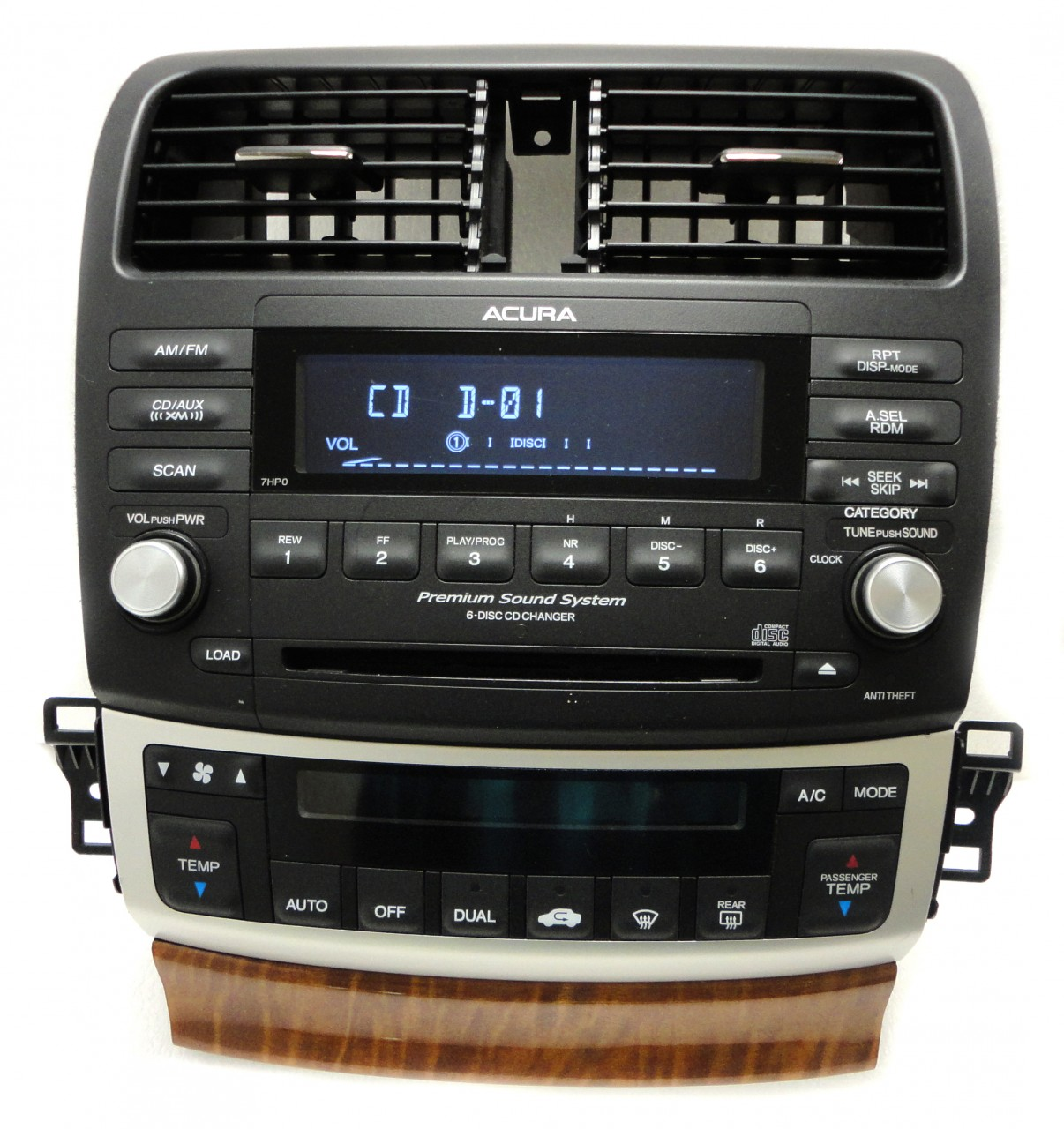 05 06 07 08 ACURA TSX Radio Stereo 6 Disc Changer CD