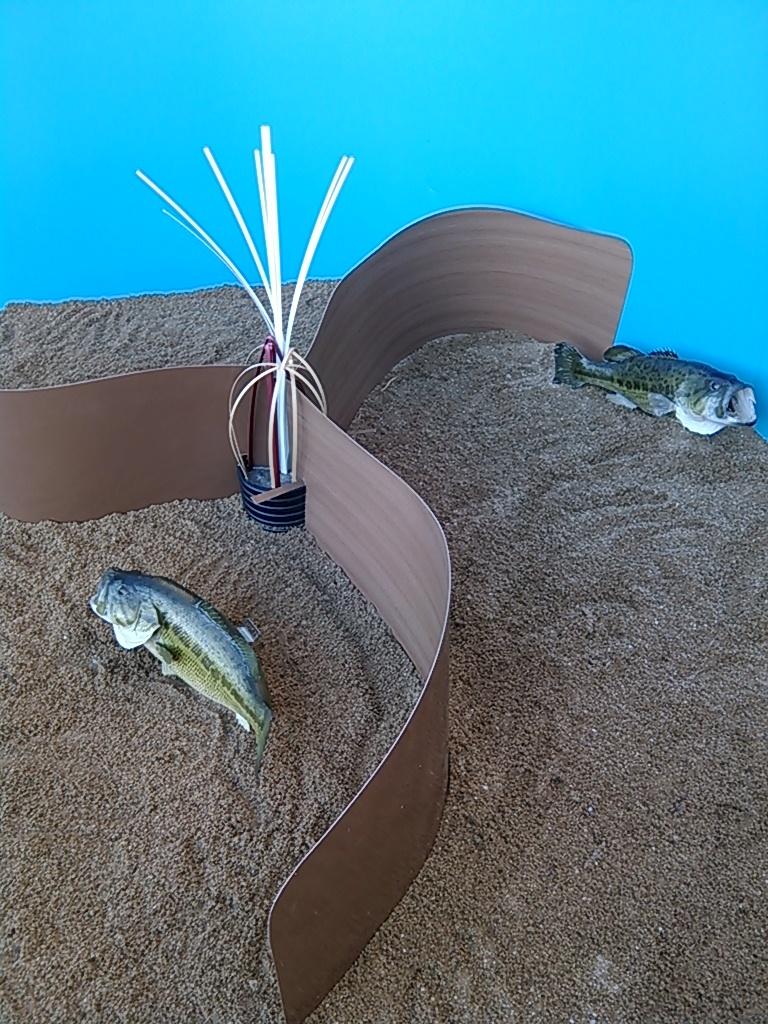 The sprocket fish spawning rocket fishiding reclaimed for Bass pond design