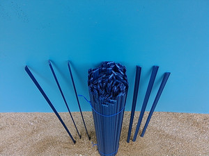 Hundreds of fine, flexible pvc strands to protect the young fish.