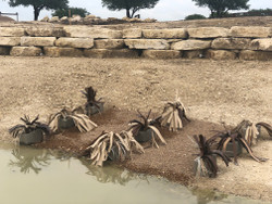 """We found Fishiding Reclaimed Artificial Fish Habitat as a very creative, economical solution to create fish structures for our pond to help minimize predation of our bait fish.  We combined their product with inexpensive concrete cinder blocks to create excellent cover that will not decompose and remain stationary. """