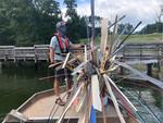 Fishiding installed in barrels in Smith Mountain lake