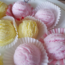 Rose and lemon bath truffles