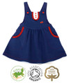 Toddler Girls Pinafore Dress Dungaree Style
