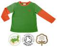 Colourful Boys Green Long Sleeve T Shirt