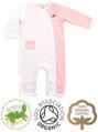 Pink Stripe & White Girls Kimono Baby Grow