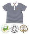 Boys Polo Shirt Navy & White Stripe